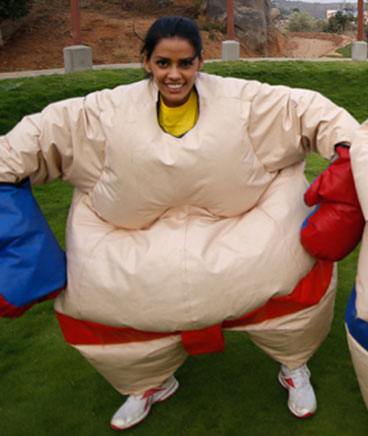sumo suit wrestling game at ramoji film city