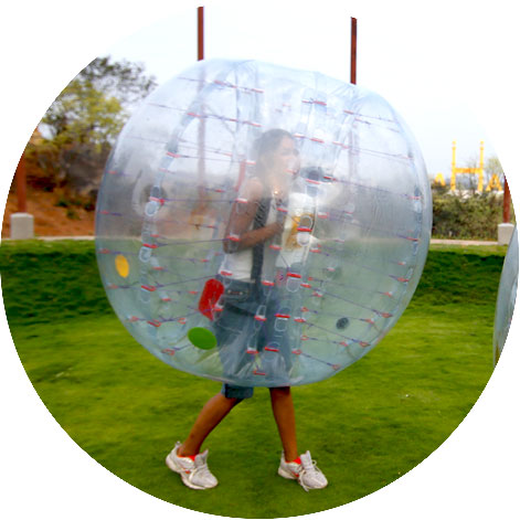 land zorbing fight