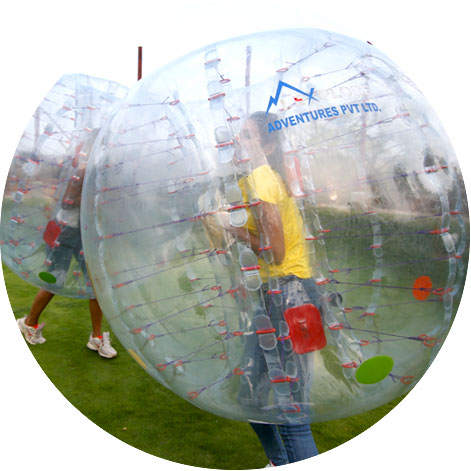 hill side zorbing fight