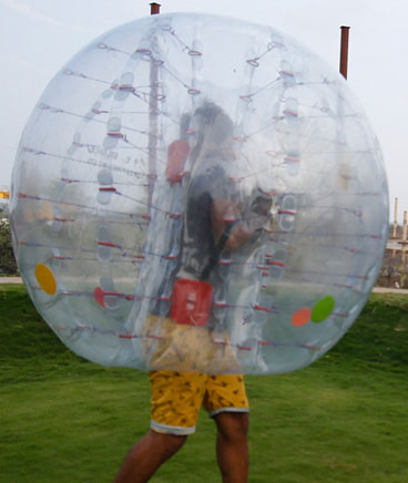 zorbing outdoor adventure