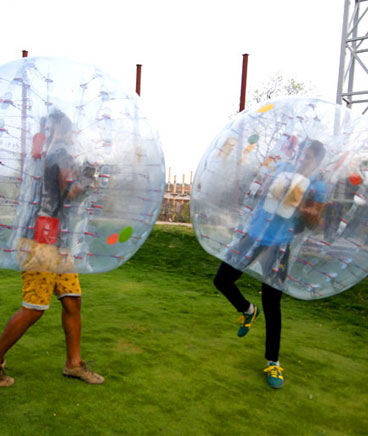 zorbing game in ramoji film city